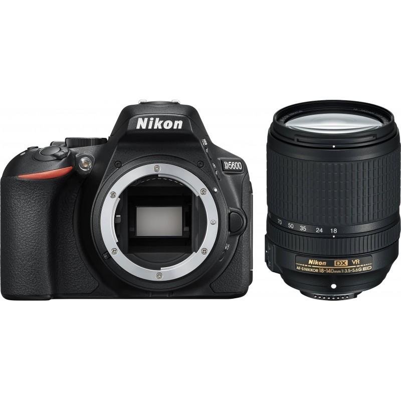Nikon D5600 + 18-140mm AF-S VR Kit, black