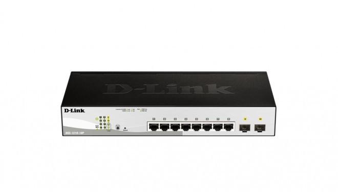 D-Link switch 10-Port Gigabit PoE+ Smart inc. 2 SFP Ports POE budget 130W