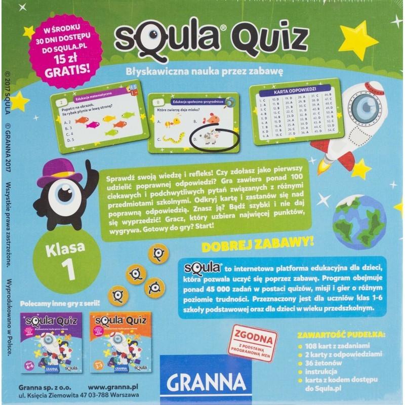 Board Game Granna Squla Quiz Klasa 1 Educational Game From 3 Years