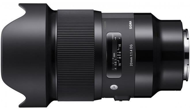 Sigma 20mm f/1.4 DG HSM Art objektiiv Sonyle