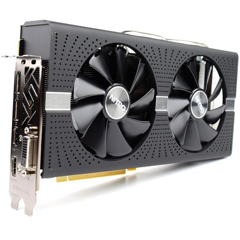 Sapphire graphics card Video Card AMD Radeon NITRO+ RADEON RX 580 8G GDDR5  DUAL HDMI / DVI-D / DUAL DP W/BP (UEFI)