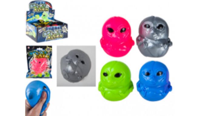 Alien splat face squigies in polybag - silver