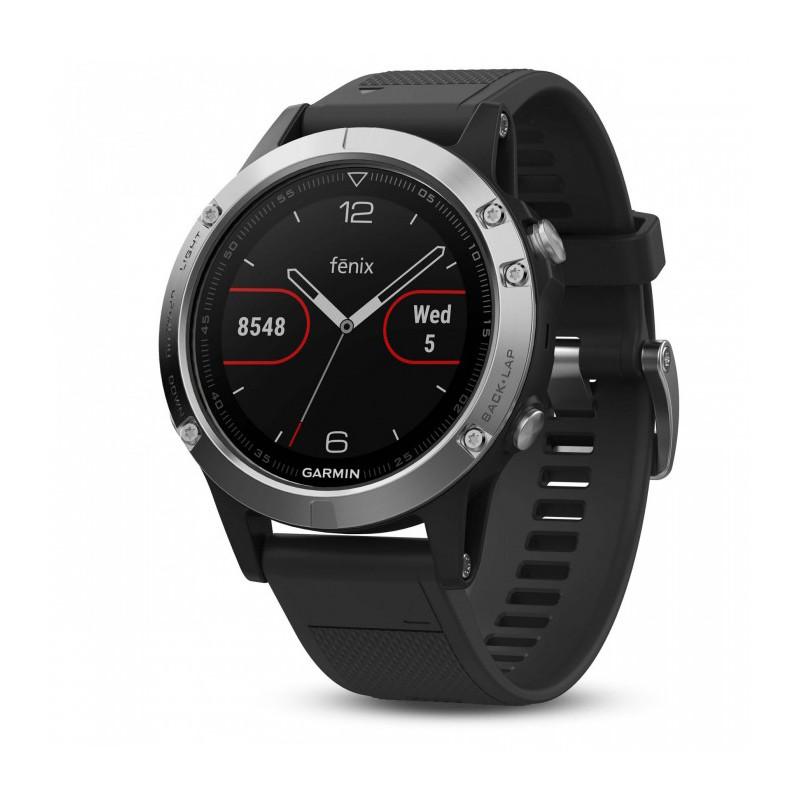 Garmin Fenix 5 GPS, must/hõbedane
