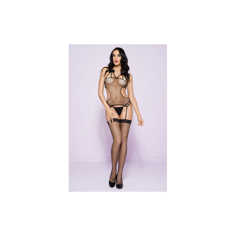 11e5d1e35bd Fishnet Catsuit With Cut-Outs And Stockings
