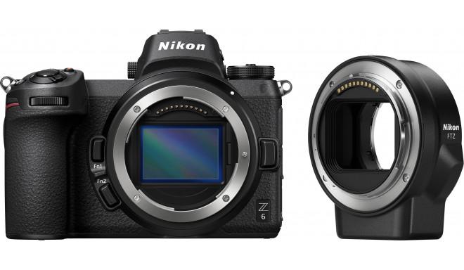Nikon Z6 kere + objektīva adapteris FTZ