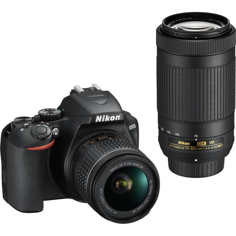 Nikon D3500 + 18-55mm AF-P VR + 70-300mm VR Kit, must