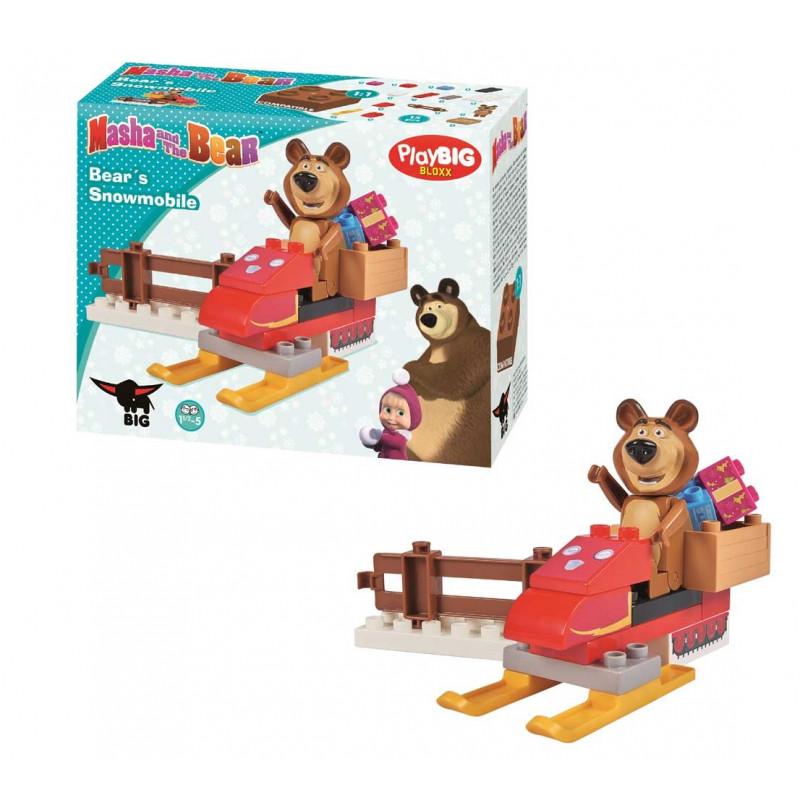 9e1df2bebc9 SIMBA BIG MASHA AND THE BEAR constructor Bear's snowmobile, 800057101