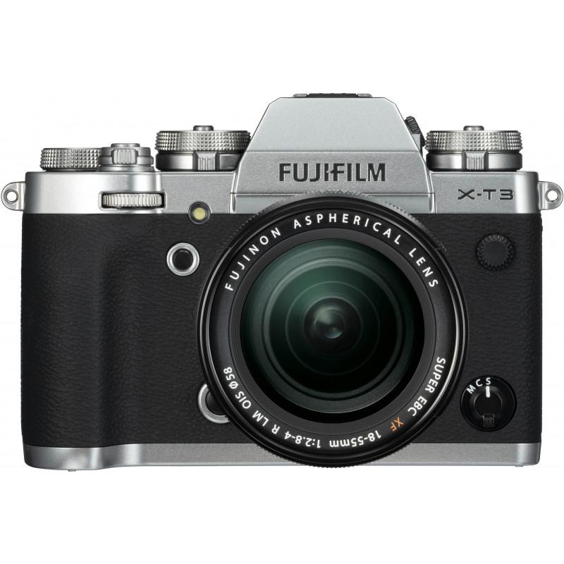 Fujifilm X-T3 + 18-55 мм Kit, серебряный