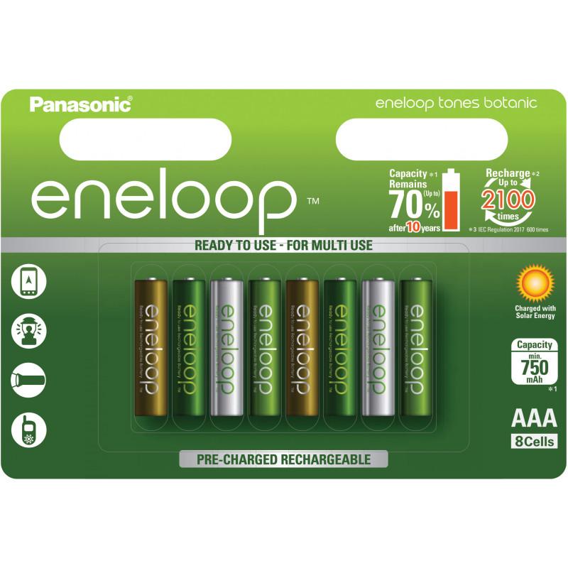 Panasonic eneloop aku AAA 750 8TE Botanic