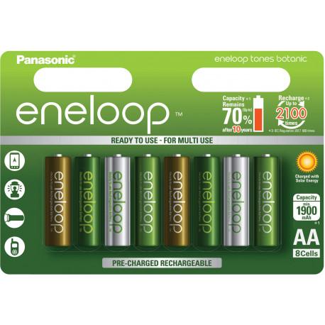 Panasonic eneloop аккумулятор AA 1900 8TE Botanic