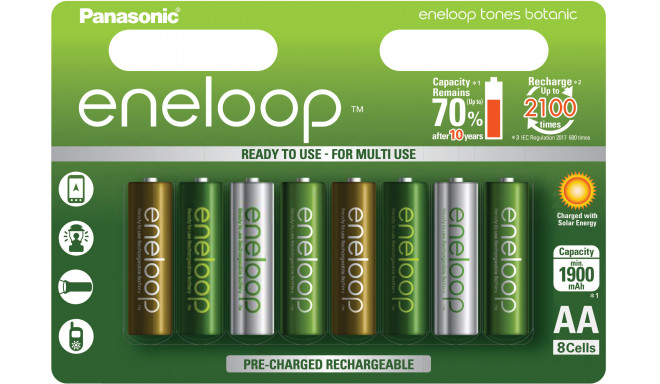Panasonic eneloop battery AA 1900 8TE Botanic
