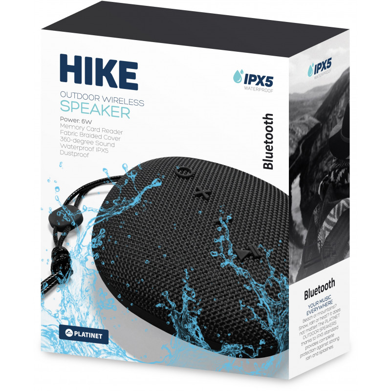 Platinet wireless speaker Hike PMG11 BT, black (44478)