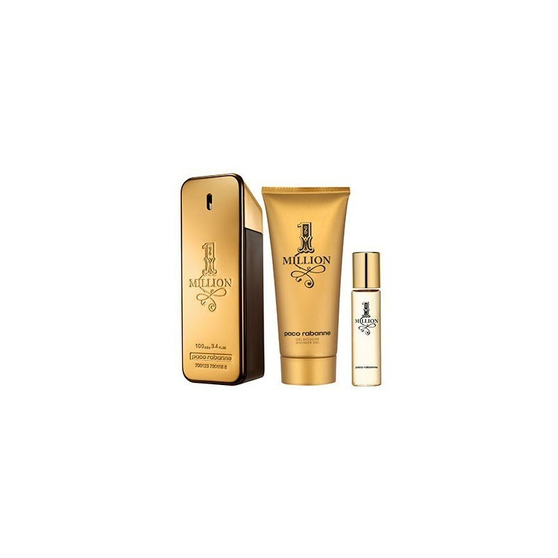 b6f74216595b Paco Rabanne 1 Million Pour Homme Eau de Toilette 100ml gift set ...