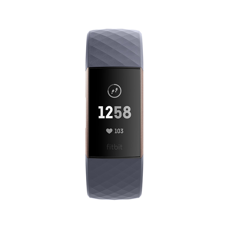 Fitbit activity tracker Charge 3, rose gold/blue grey