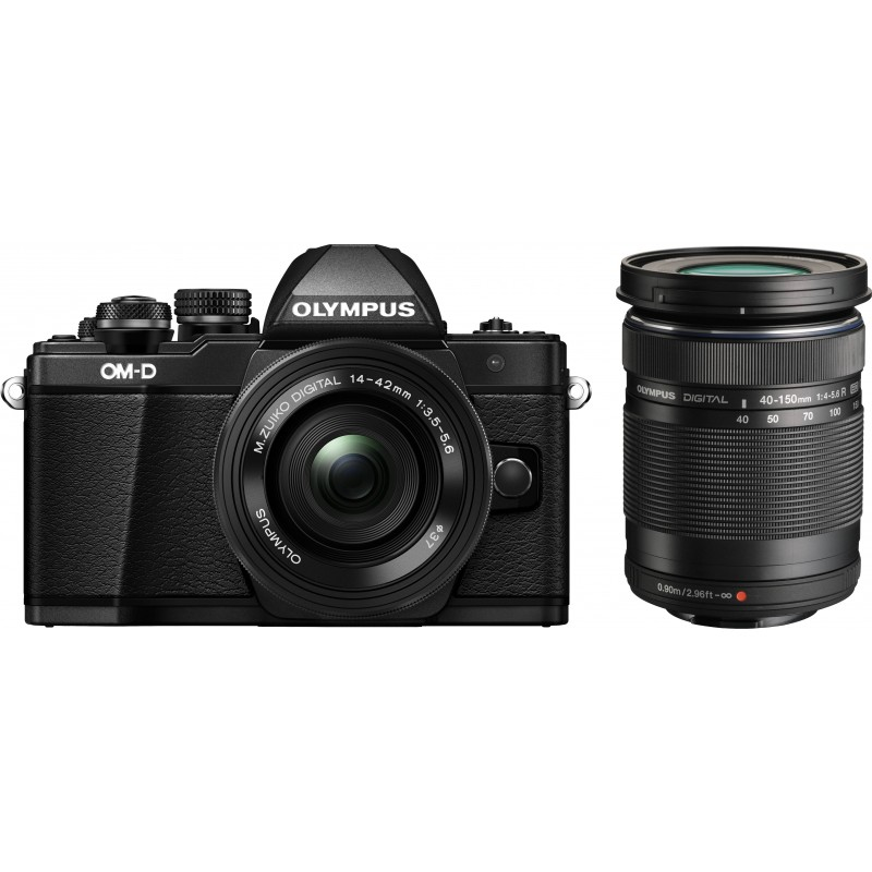 Olympus OM-D E-M10 Mark II + 14-42mm + 40-150mm Kit, black