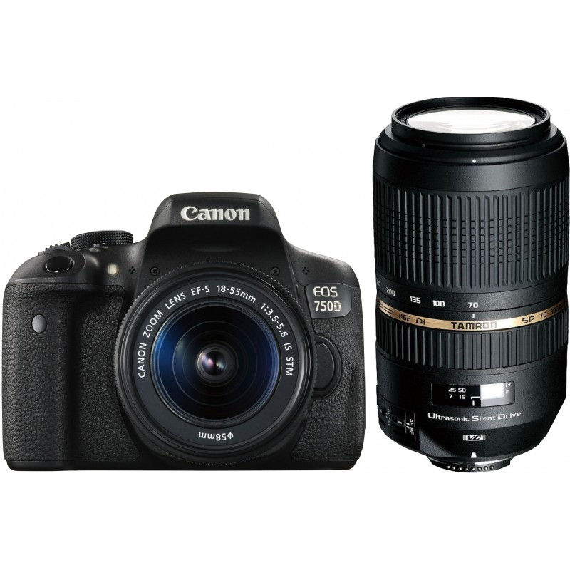 Canon EOS 750D + 18-55mm IS + Tamron 70-300mm VC