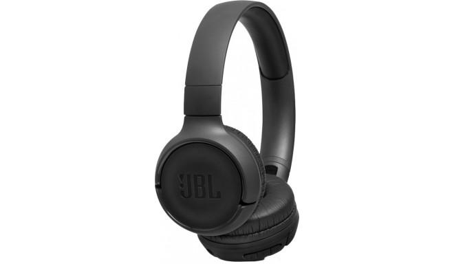 JBL bezvadu austiņas + mikrofons Tune 500BT, melnas