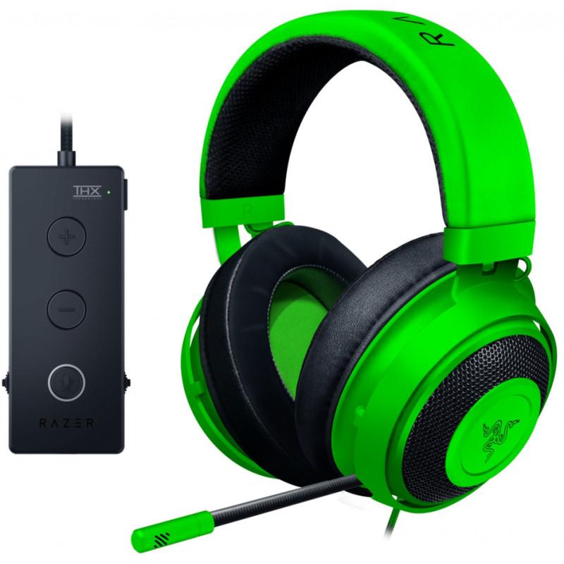 Razer kõrvaklapid + mikrofon Kraken Tournament, roheline