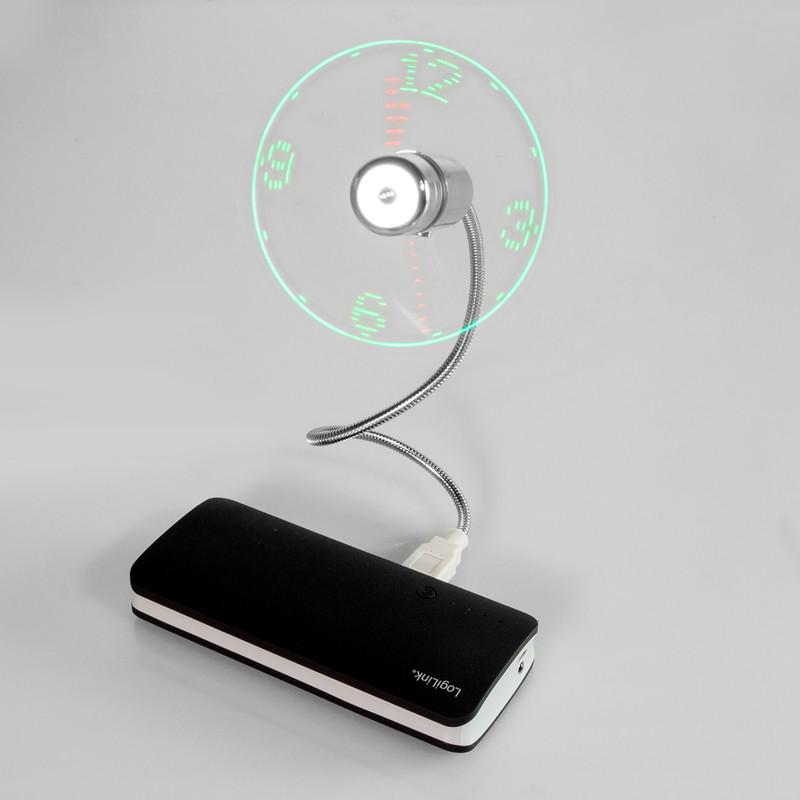 LogiLink USB fan with clock UA0294