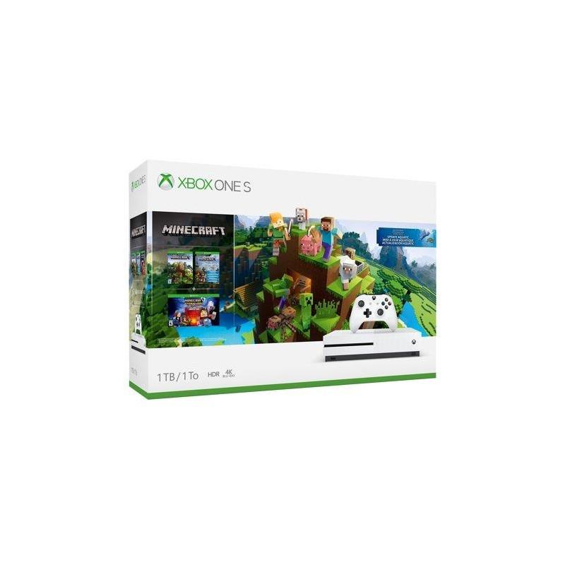 CONSOLE XBOX ONE S 1TB WHITE/GAME MINECRAFT MICROSOFT
