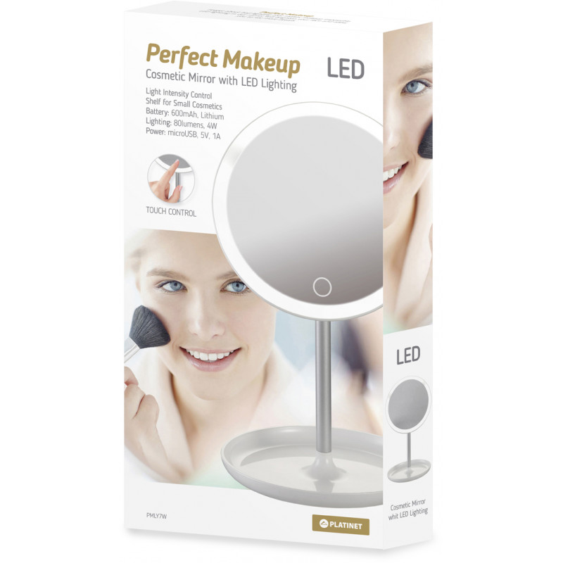 Platinet mirror LED 4W PMLY7W, white