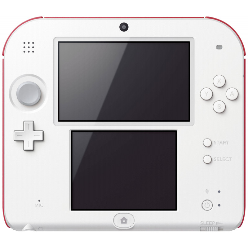 nintendo 2ds red white gaming consoles photopoint