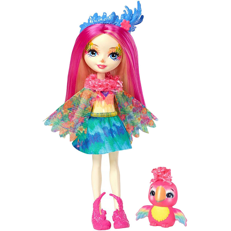 Enchantimals Peeki Parrot Doll /& Sheeny FJJ21