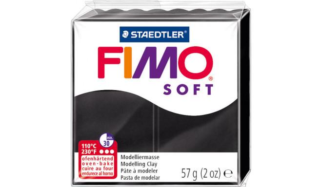 Staedtler modelēšanas māls Fimo Soft, melns
