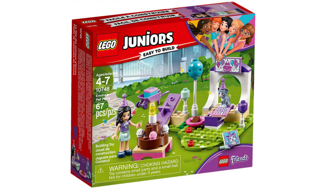 LEGO Juniors rotaļu klucīši Emmas mājdzīvnieka ballīte (10748)