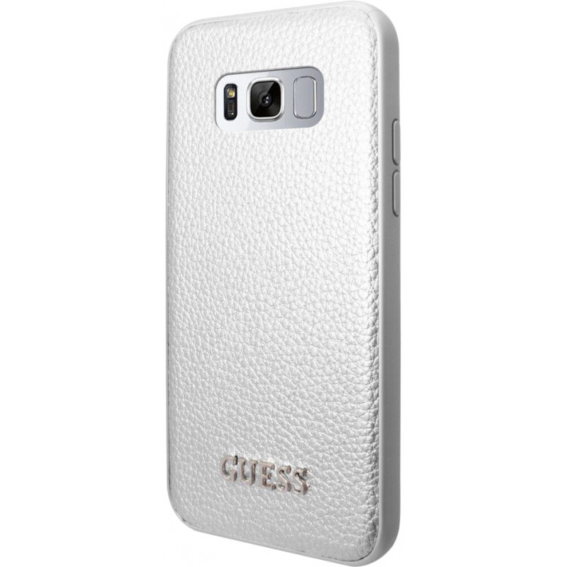 Guess case Iridescent Samsung Galaxy S8 Plus, silver (GUHCS8LIGLSI)