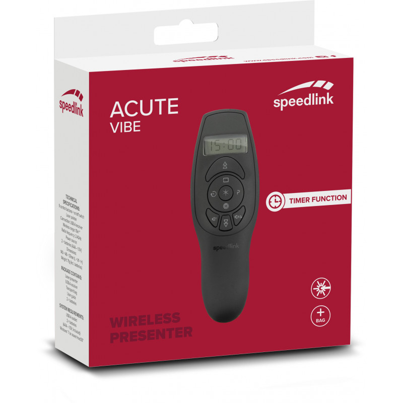 Speedlink presenter Acute Vibe (SL-600401-BK)