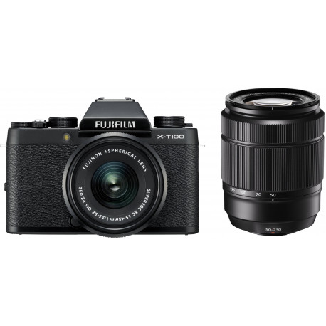 Fujifilm X-T100 + 15-45mm + 50-230mm Kit, must
