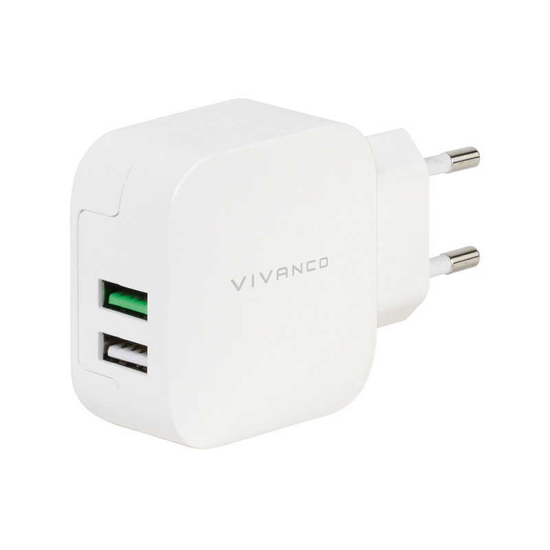c503dd1001f Vivanco charger USB 2,4A/1A, white (37563) - USB chargers - Photopoint