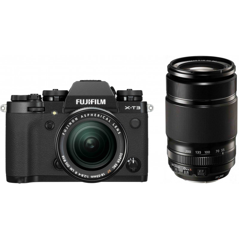 Fujifilm X-T3  + 18-55mm + 55-200mm Kit, must