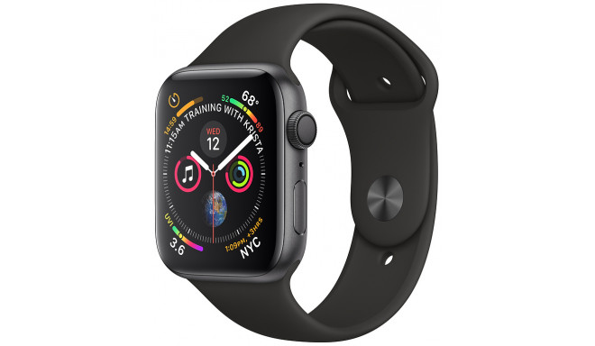 Apple Watch 4 GPS 44mm Sport Band, melns