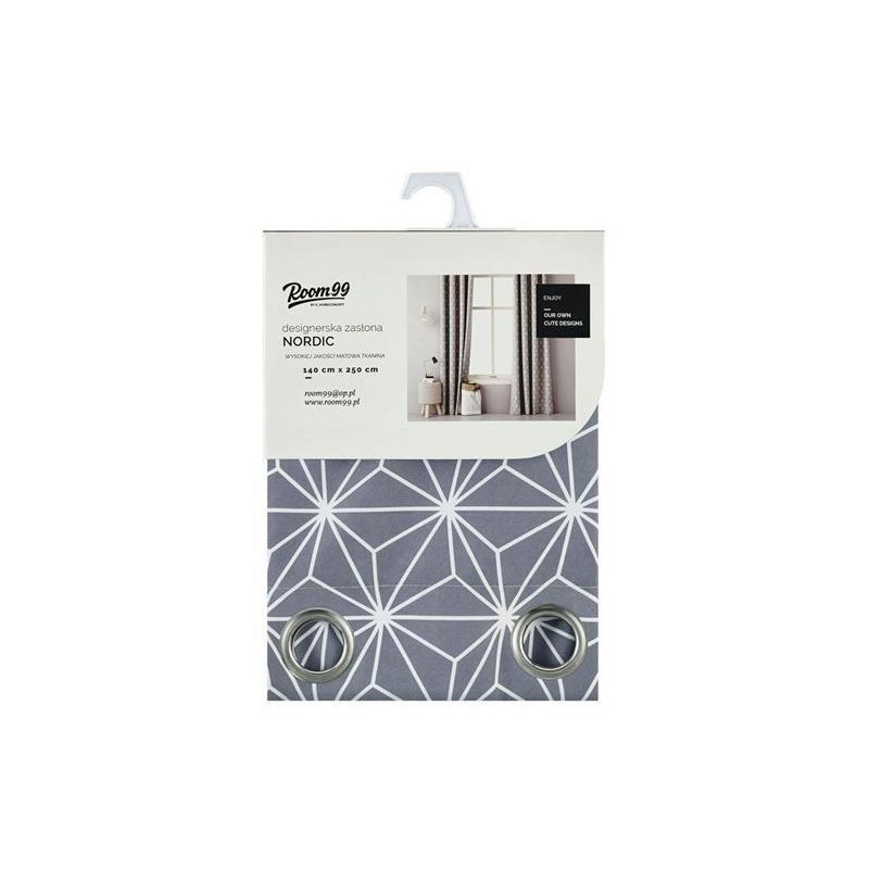 Room99 side curtain ROM1298 140x250cm, grey