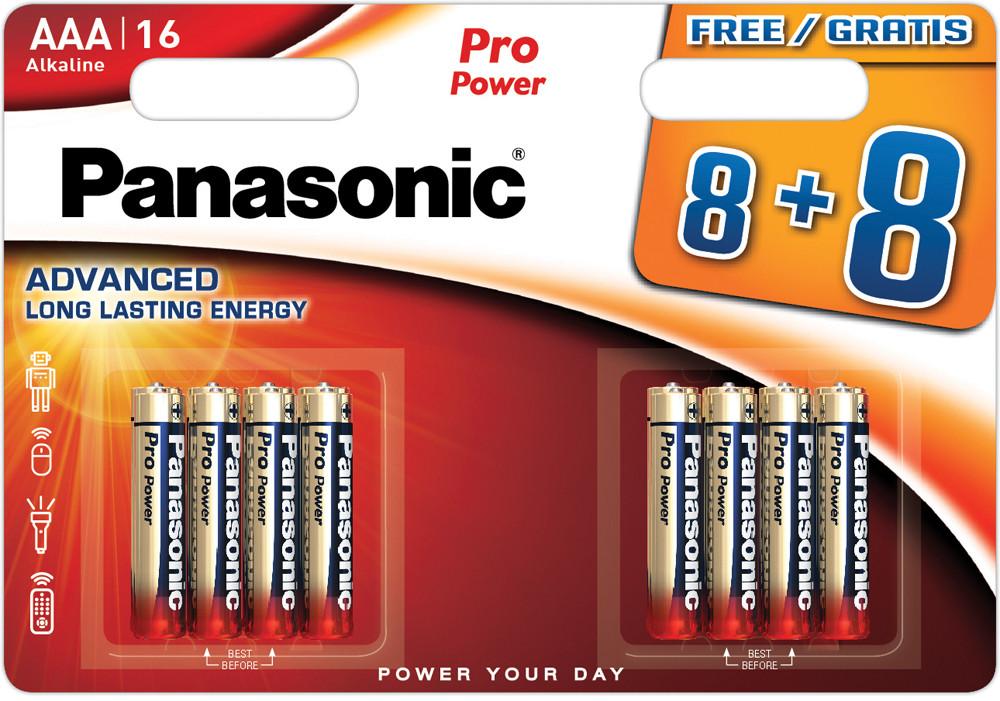 Panasonic Pro Power patarei LR03PPG/16B (8+8tk)