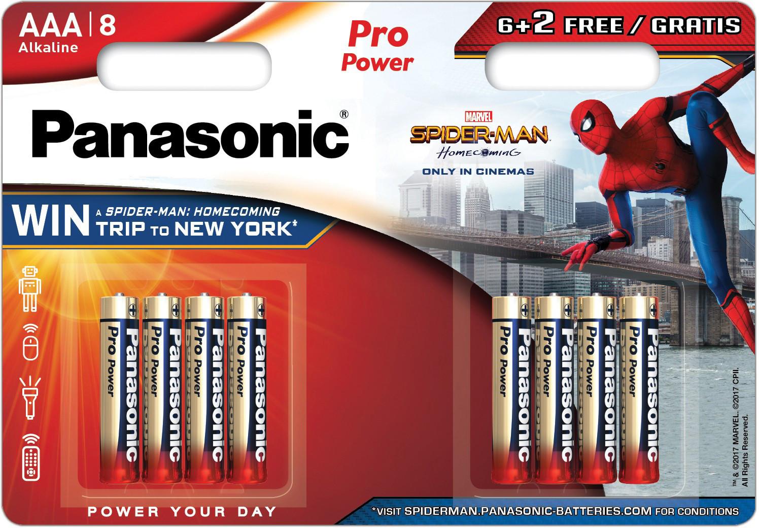 Panasonic Pro Power patarei LR03PPG/8B (6+2) S-M
