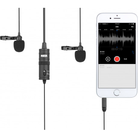 Boya microphone BY-M1DM Dual Lavalier