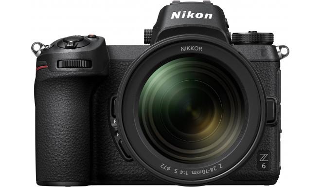 Nikon Z6 + Nikkor Z 24-70mm f/4 S + objektīva adapteris FTZ Kit (atvērts iepakojums)