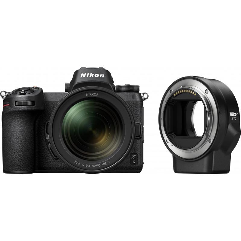 Nikon Z6 + Nikkor Z 24-70mm f/4 S + objektiivi adapter FTZ Kit (avatud pakend)