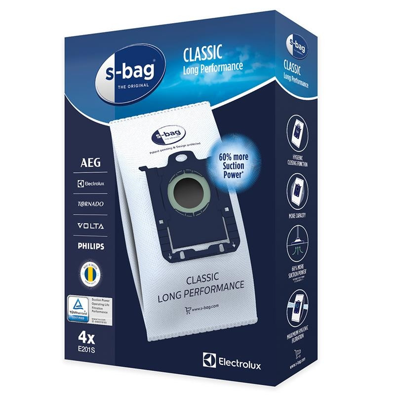 Tolmukotid Electrolux  s-bag Classic Long Performance