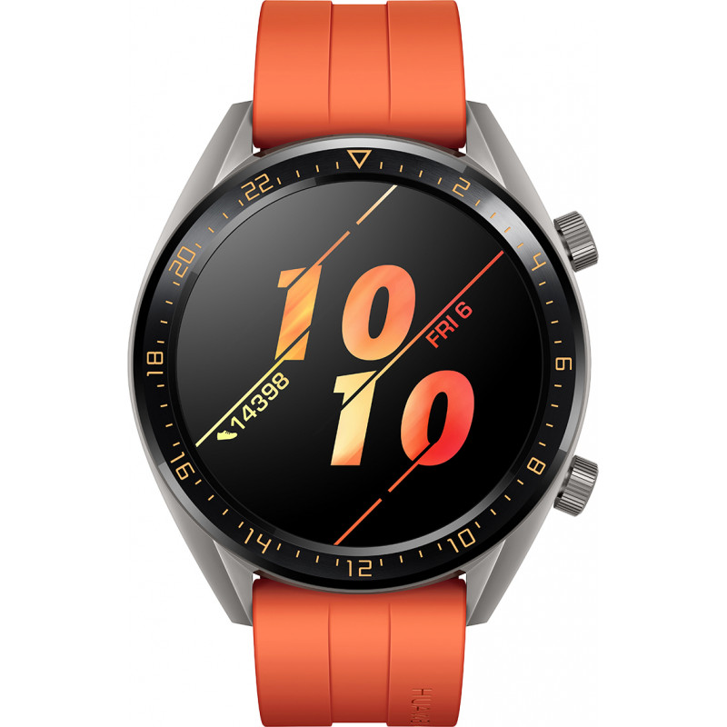 Huawei Watch GT, titanium grey/oranž