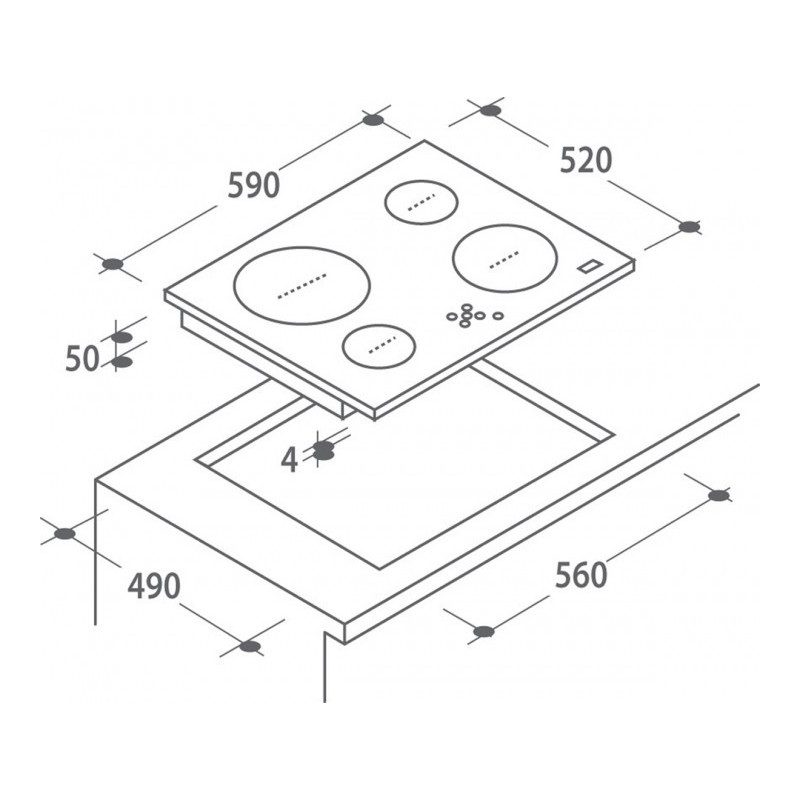 Candy integreeritav keraamiline plaat CH642X
