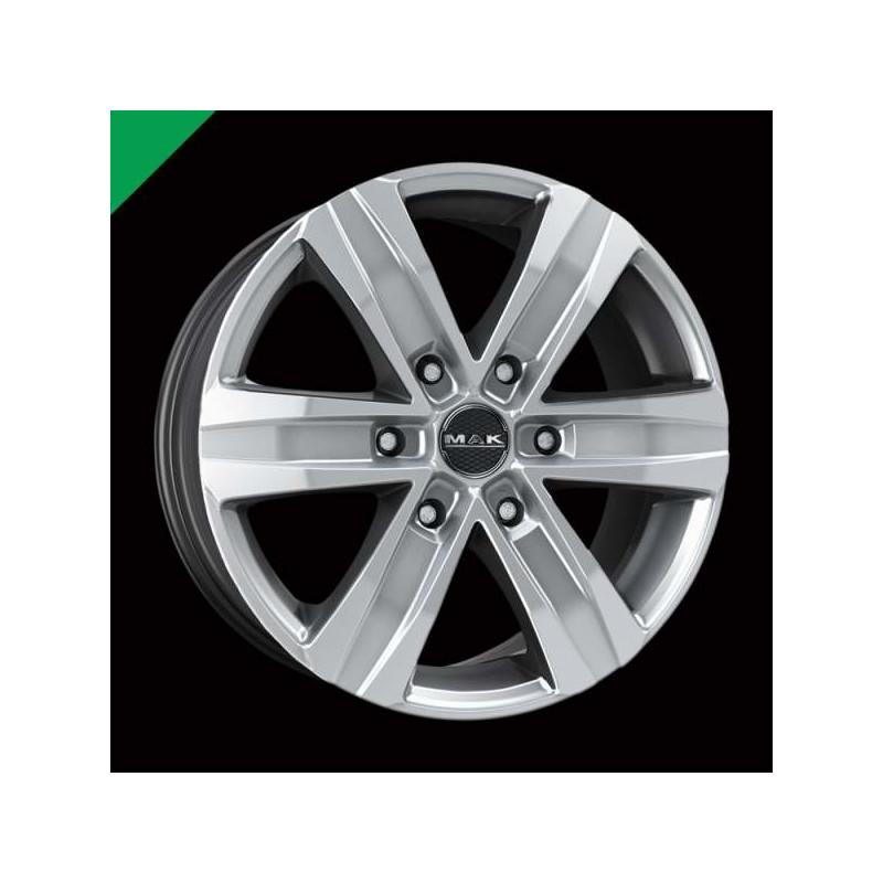 Alloy Wheel MAK Stone 6 Silver, 17x7.5 6x139.7 ET30