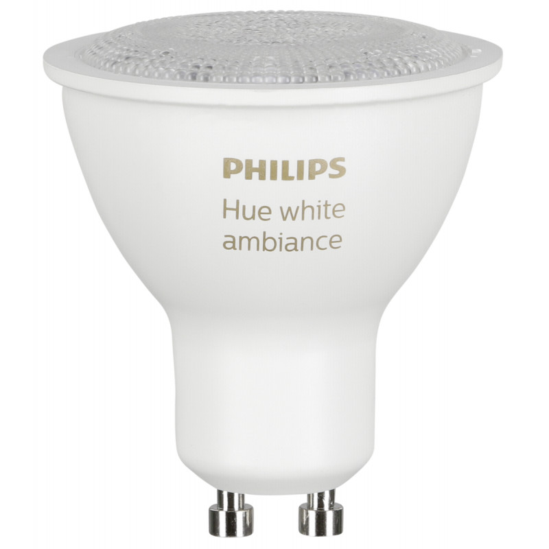 1x2 Philips Hue White Ambiance LED GU10 DIM 5,5W (40W) white