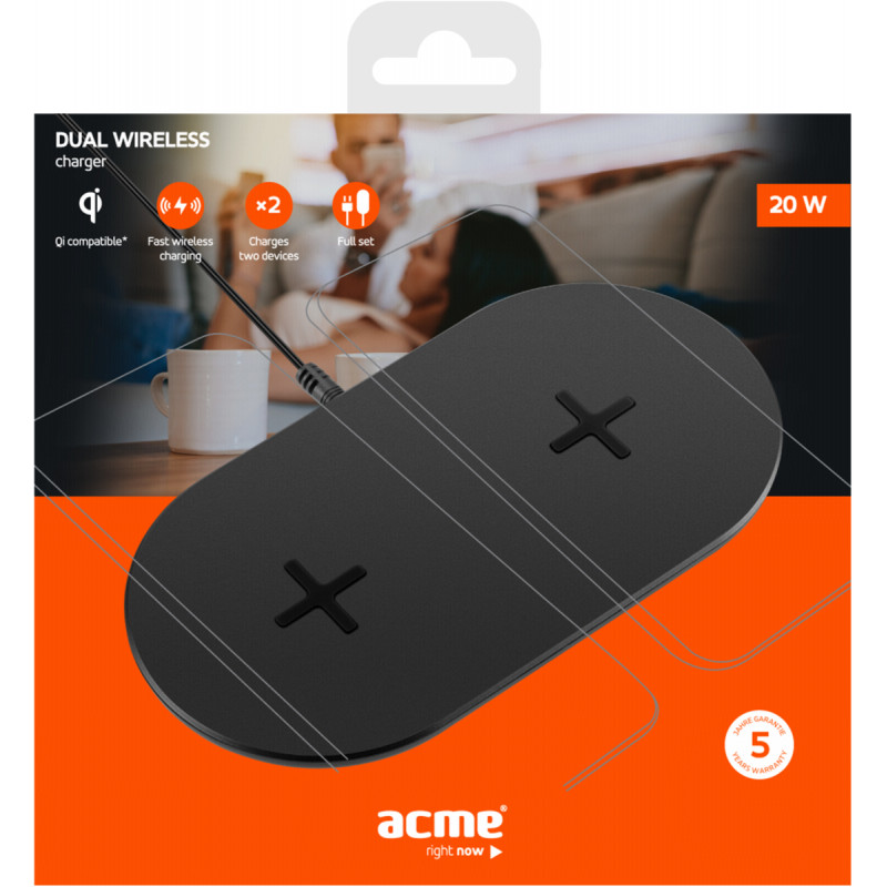 ACME CH305 Dual Wireless charger Qi certified