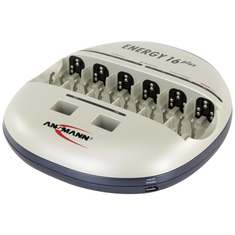 Ansmann Energy 16 plus Set incl. 2x4 maxE NiMH Akku AA 1900 mAh