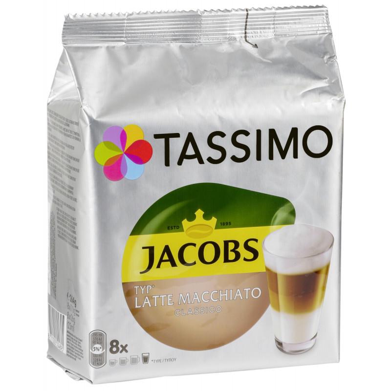 Tassimo coffee capsules Jacobs Latte Macchiato Classico T-Discs 8pcs