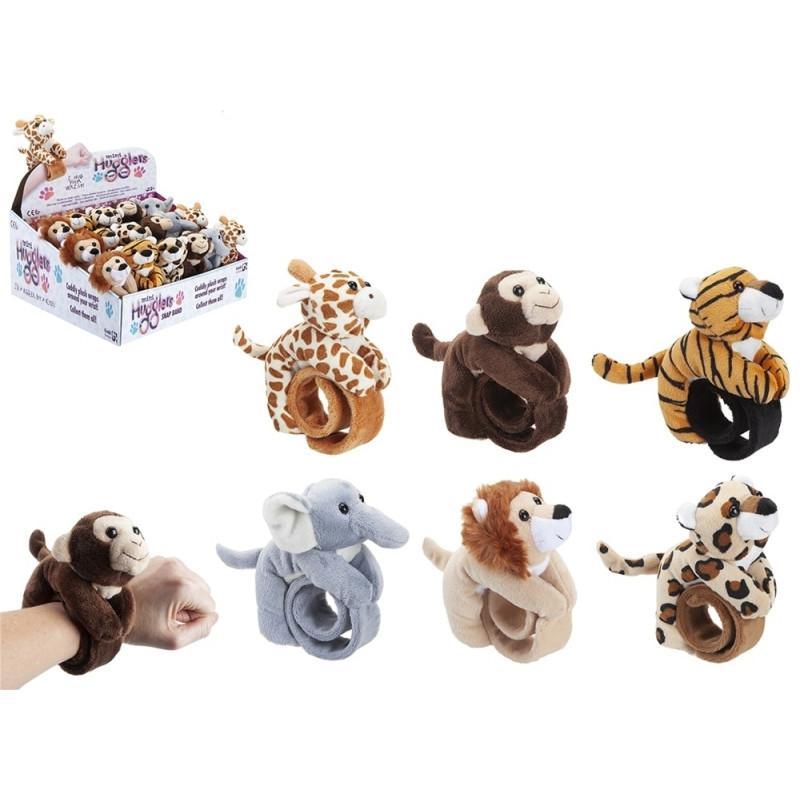 15 cm Hugglers Bracelet Plush Zoo Animals